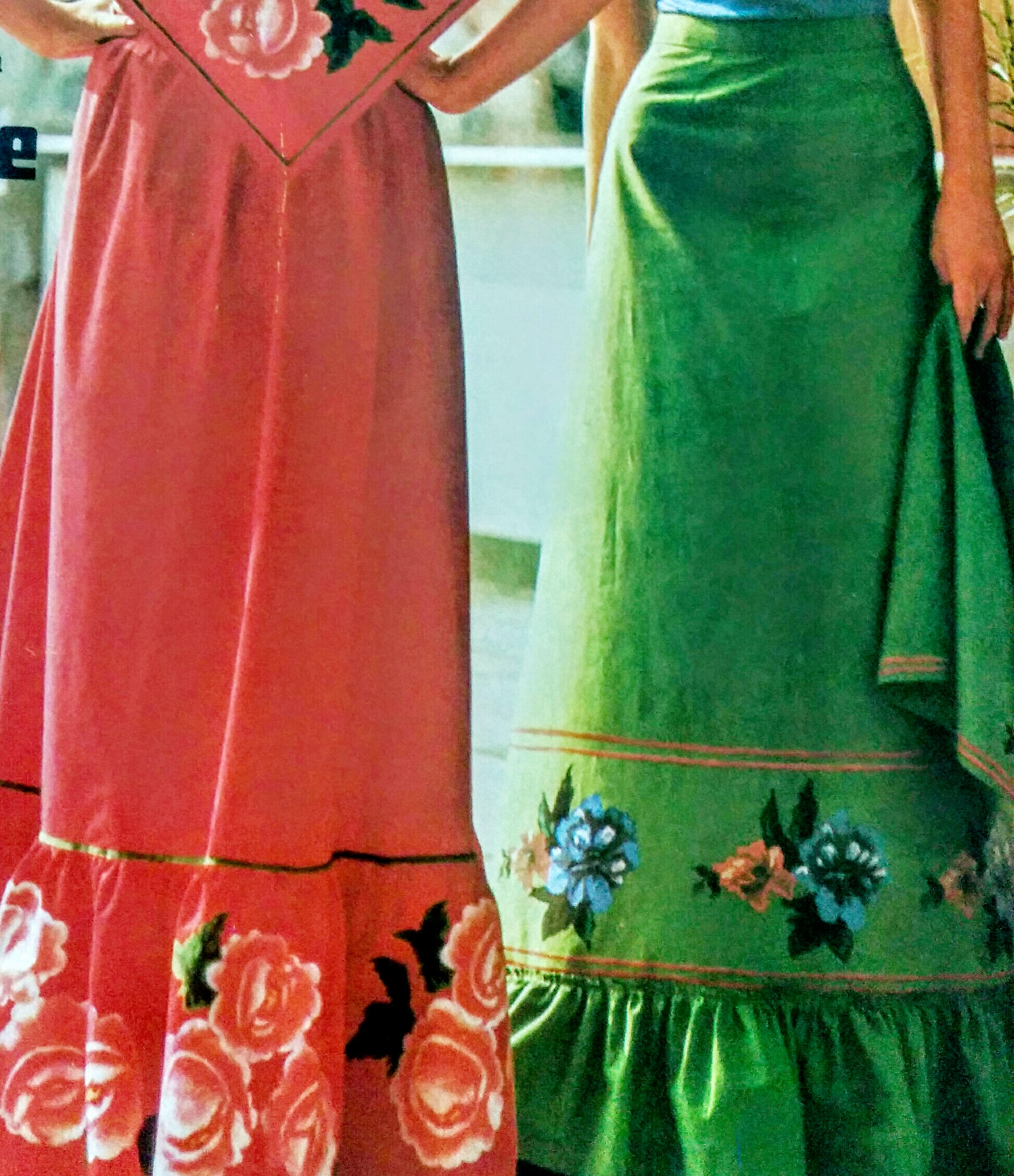 Patrón falda larga con volante – dibujando patrones