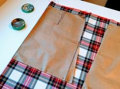 patrón falda lína A