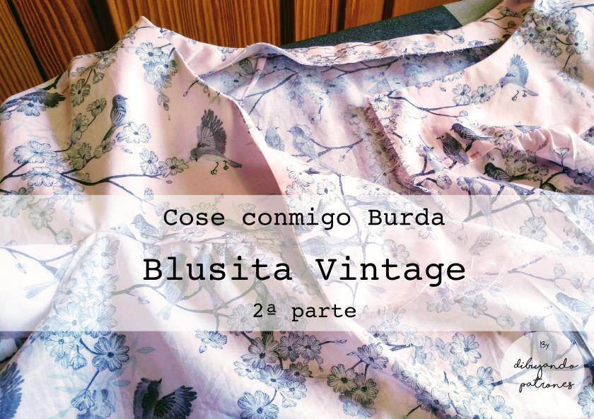 2ª parte cose conmigo blusa vintage Burda