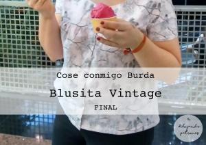 Blusa vintage Burda acabada