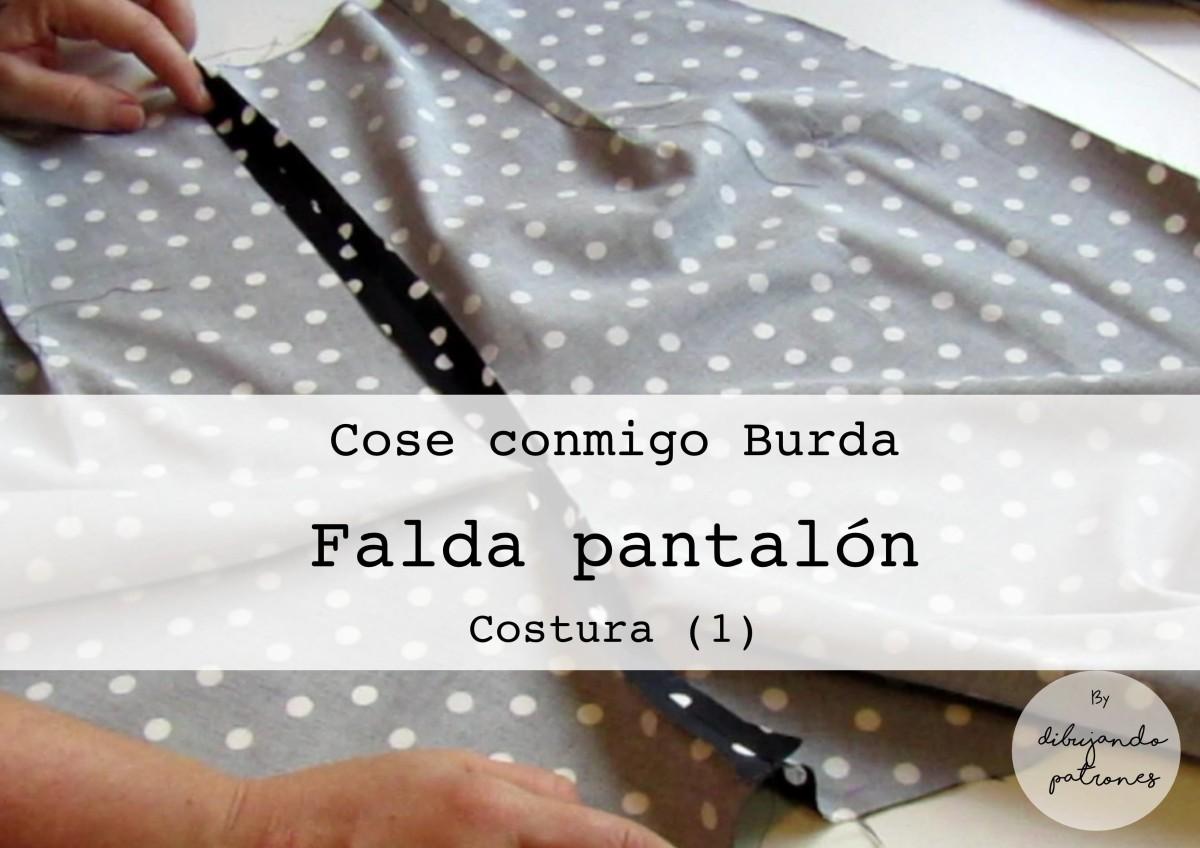 Comenzamos a coser la falda pantalón Burda – dibujando patrones