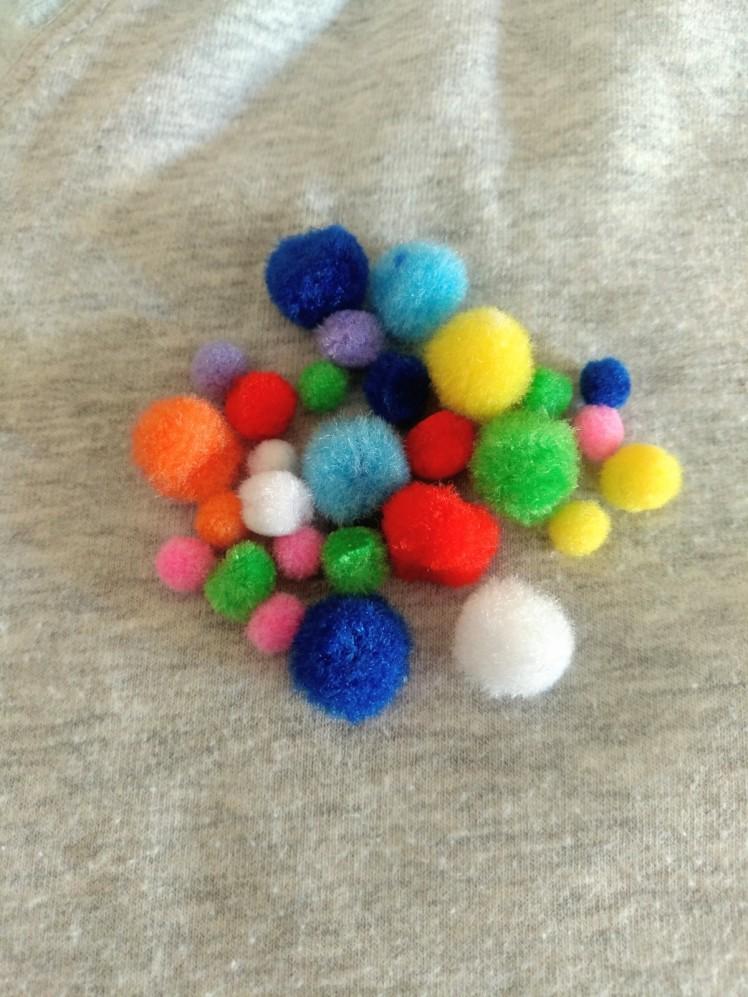 Pompón multicolor