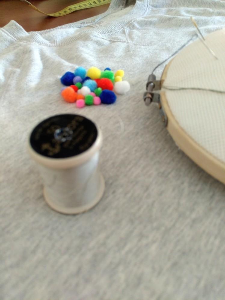 Pompones y materiales